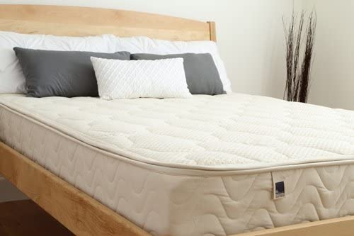 SPINDLE Natural Latex Mattress. 10 Dunlop Natural Latex Mattress with Zipper Cover Made with Wool and Organic Cotton. Made in The U.S.A. Full, Firm