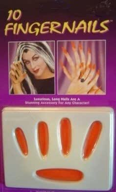 Fingernails Long Red Press on Finger Nails Devil Halloween Costume Accessory