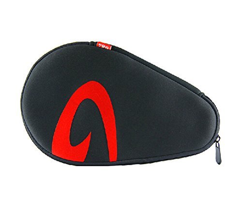 Practical Ping Pong Racket Cover Bag BLACK RED by Panda Superstore