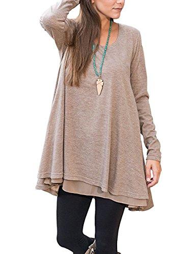 khaki blouse dress - 5