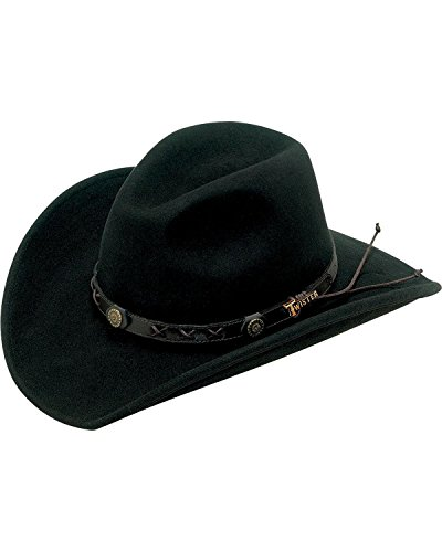Twister Men's Dakota Crushable Felt Hat Black Large