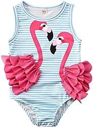 CQHY MALL Toddler Girls One-Piece Tankini Swimsuits Colorful Donuts Sprinkles/Swan/Pineapple/Eyelash Swimwear