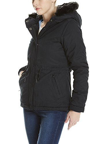 Noir Bench Beauty Blouson Fur Jacket black Padded Bk11179 With Femme Lining wCqBTwn6