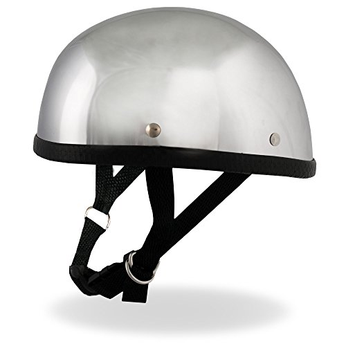 Hot Leathers Eagle Style Chrome Novelty Helmet (Silver, - Hot Glasses Chick With
