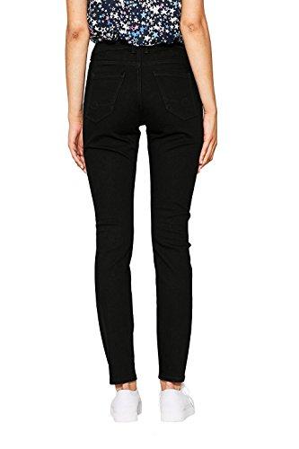 edc by ESPRIT mit hohem Bund, Jeans Mujer Negro (Black Rinse 910)