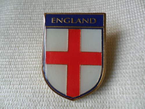 (BeesClover A Great England Flag and Name Shield pin Lapel Badge Custom Embossed Metal Enamel Magnet Badge Show)