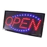 SYNC 改良版!! 日本規格対応 LED サインボード 販促用看板 OPEN LEDボード 電飾 看板 オープン パネル