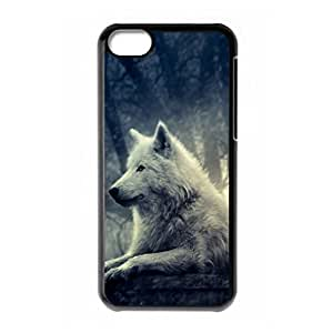 Hard back shell with Wolf style for iPhone 5C