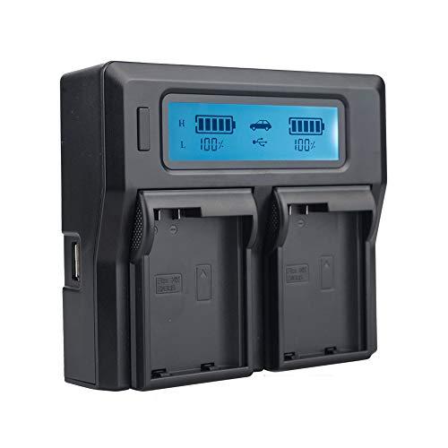 TOP-MAX Dual LCD Battery Charger for Nikon EN-EL15 Batteries for Nikon Z6, Z7, D850, D810, D810A, D800, D800E, D7500, D7200, D7100, D7000, D750, D810, D610, D600, D500, 1v1 Cameras,Dual USB Charger