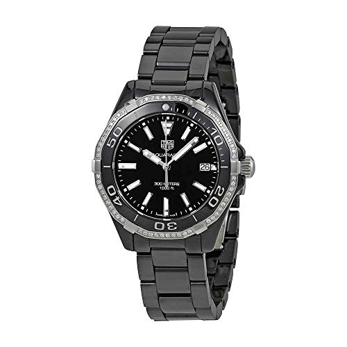 Tag Heuer Aquaracer Lady 300M 35mm Black Diamond Ceramic Watch WAY1395.BH0716