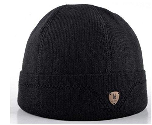 Gome-z NEW Mens Skullies Gorro Russia Beanie Touca Inverno Plus Velvet Hat Knitted Caps Bonnet Winter Cap Hats Beanies For Men Black