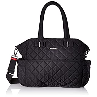 Storksak Bobby Quilted Shoulder Bag Diaper Bag, Black
