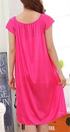 Da 3xl Donna Notte Femminile Rosy1 Targogo Vintage Elegante Sleepwear Morbido Abito Casual Pigiama Manica Size Camicia color Corta Tg1Hqw