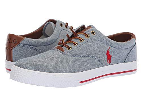 [Polo Ralph Lauren(ポロラルフローレン)] メンズカジュアルシューズ?スニーカー?靴 Vaughn Blue/Ralph Lauren Red 9.5 (28cm) M
