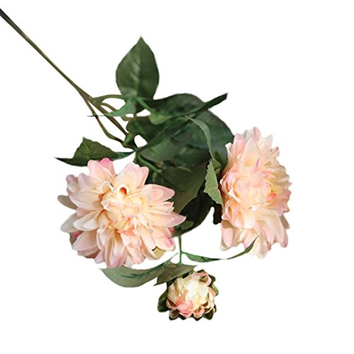 Drfoytg Prime Clearance! Artificial Silk Flower, Fake Flower Dahlia Floral Wedding Bouquet Bridal Hydrangea Plastic Flowers For Party Home Decor (52cm, B) ()