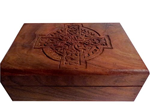 Wooden Carved Box/Wood Jewelry Box/Trinket/Keepsake/Storage Box 4
