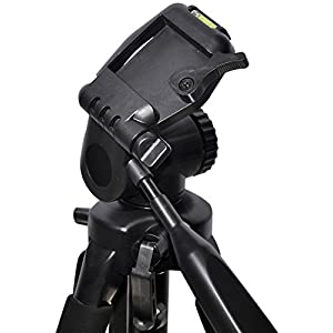 Professional 72-inch Tripod 3-way Panhead Tilt Motion with Built In Bubble Leveling