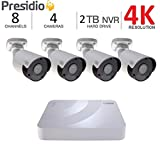 Q-See 5MP Presidio Cavalier Bullet Camera with Color Night Vision HD IP Surveillance with H.265+ (2-Pack CV5MB1.1)