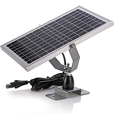 SUNER POWER 12V Waterproof Solar Battery Trickle Charger & Maintainer - 10W 20W Solar Panel Built-in Intelligent MPPT Solar Charge Controller + Adjustable Mount Bracket + SAE Connection Cable Kits