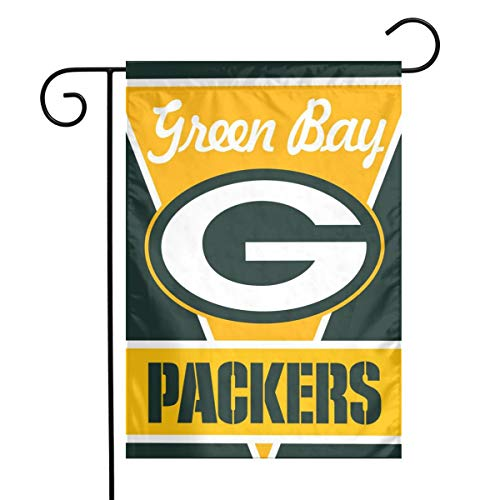 (Sorcerer Custom Colorful Garden Flag Football Team Green Bay Packers Outdoor House Yard Flag Vertical Double Sided 12 x 18 Inches Indoor Banner Wedding Party)