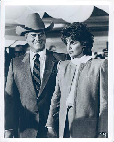 192005347 Vintage Photos 1984 Photo Larry Hagman Celebrity Actor Jr Ewing Tv Series  Dallas Prodcuer 7X9
