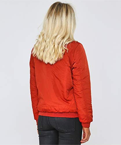 Pelle Reversible Salvia Bomber Femmes Orange Jacket And Rino q5wzFF