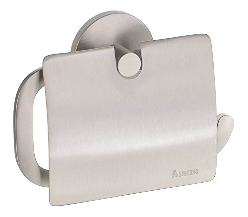 [Loft Euro Toilet Roll Holder w Lid in Brushed Nickel Finish] (Loft Toilet Roll Holder)