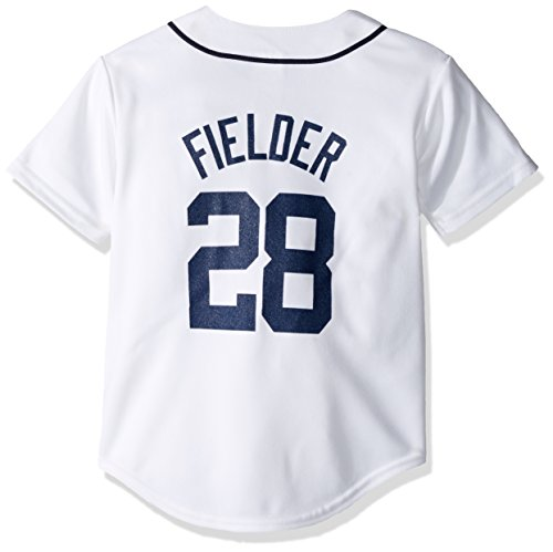 MLB Detroit Tigers Prince Fielder White Home Replica Youth Jersey, White, Small (Tigers Majestic Jersey White)