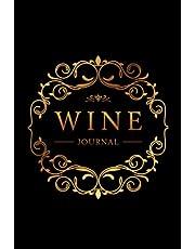 Wine Journal: Wine Tasting Notebook & Diary | Elegant Gold and Black Design