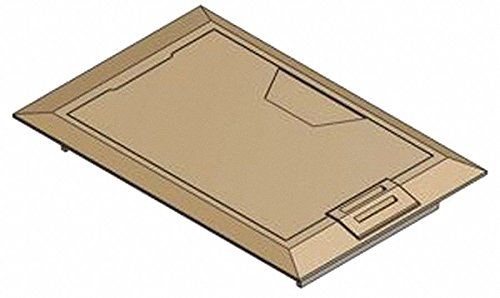Steel City Floor Box Cover, Brass, Shape: Rectangular, 8-3/8