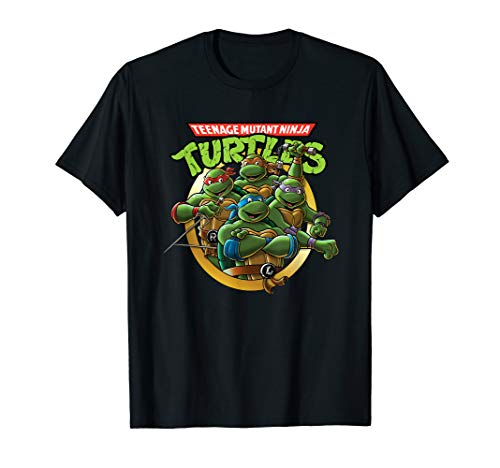 Classic Teenage Mutant Ninja Turtles Group And Logo T-Shirt ()