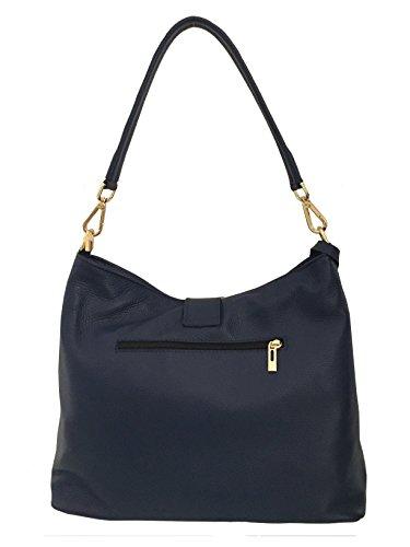 Italienische Handtasche Abendtasche blaue Ledertasche für Damen Markentasche