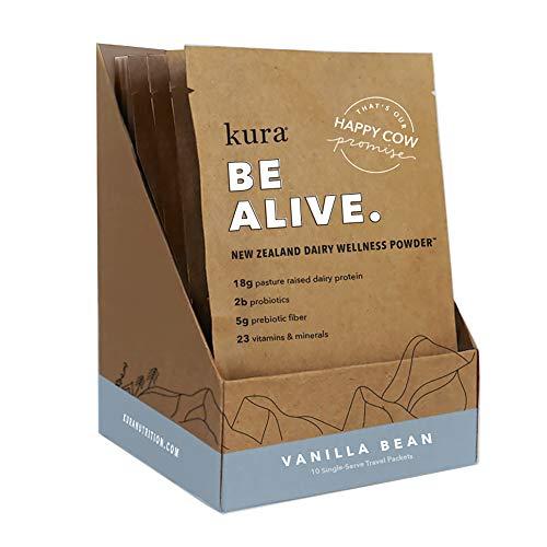 Kura Grass Fed Dairy Protein Powder, Vanilla, New Zealand Born, 10 Count Single-Serve Travel Packets by Kura Nutrition (Image #10)