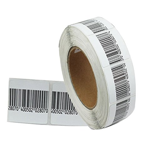 Box of 10000 piece, EAS Security Checkpoint Compatible 8.2 MHz RF Adhesive Barcode Label, Alarming Security Label for EAS Anti Theft System (1.57inX1.57in) by TopAcce
