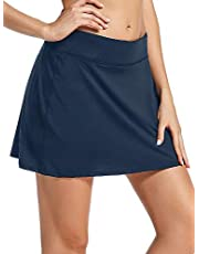 Jessie Kidden Women's Casual Pleated Golf Skirt Skorts with Underneath Shorts and Pocket for Running Tennis Workout #035