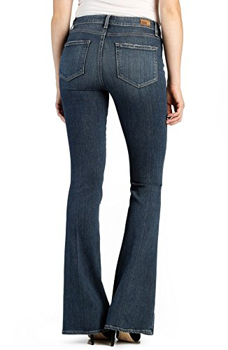 low-cost Paige Denim High Rise Bell Canyon Flare Jean Silas Destroyed