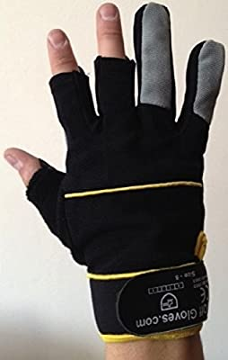 Fingerless Mechanic's Gloves by Easy Off Gloves - Ideal for DIY, tradesman and the work place.