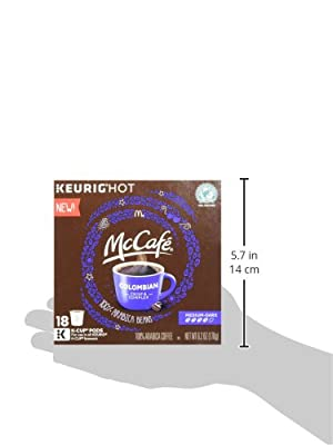 McCafe K-Cup Coffee Pods, Colombian, 72 Count (4 boxes of 18) from KraftHeinz