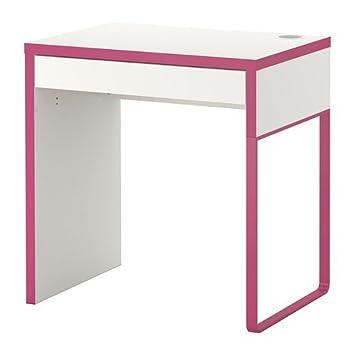 Ikea schreibtisch micke  IKEA MICKE -Schreibtisch weiß pink - 73x50 cm: Amazon.de: Küche ...