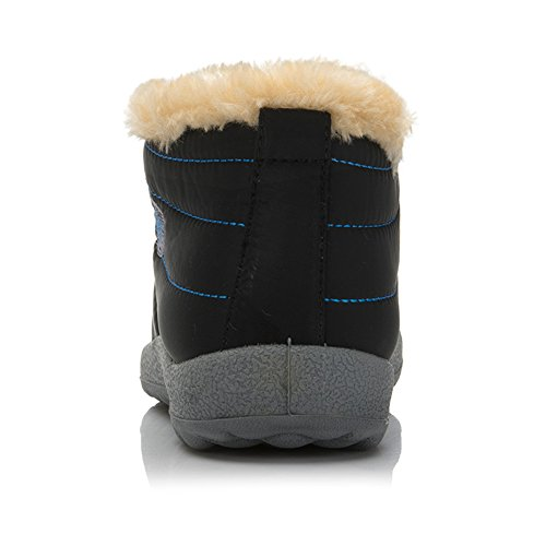 Black Women's Fur Lined Paul Boots Waterproof Antiskid Bottom Kevin Snow Szngpw