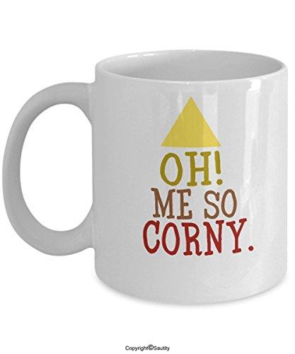 Funny Coffee Mug 11oz Oh Me So Corny Corn Humor, Corn Guy, Farmers Funny Halloween, Joke With Cute Candy Corn, Novelty Halloween Mugs by (Jokes For Halloween Dirty)