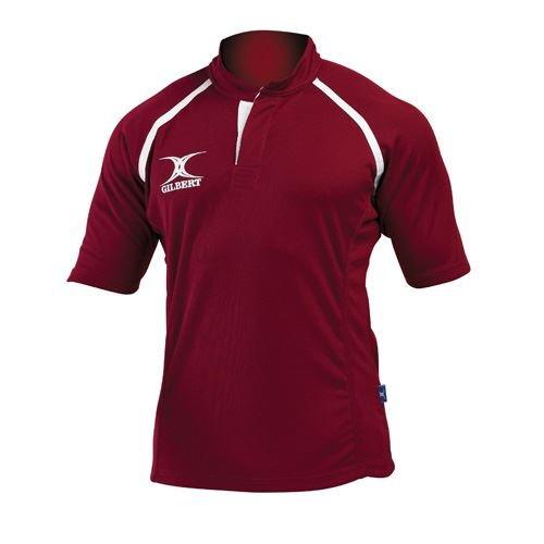 GILBERT Xact Match Rugbyshirt, Kastanienbraun, XXS