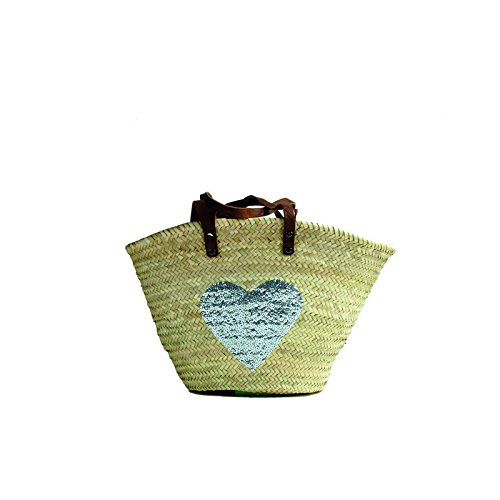 Buckle Up cestino Borsa/spiaggia borsa P-Heart silver (916012), nuovo