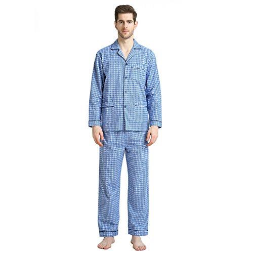 - Cotton Sleepwear/Loungewear Sets for Men,100% Fleece Warm Pj Top and Bottom