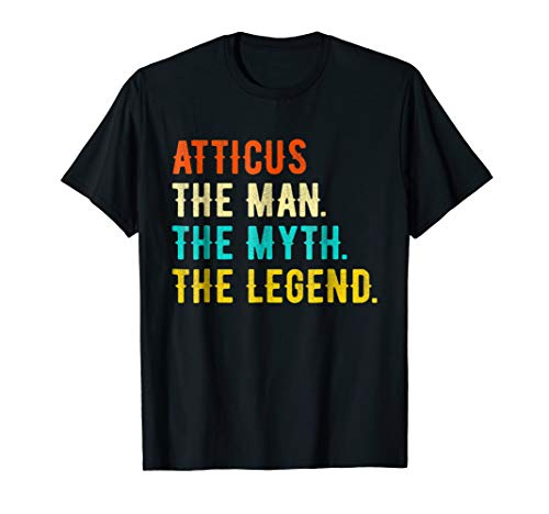 ATTICUS The Man The Myth The Legend T-Shirt Vintage Tee (Atticus Black Shirt)