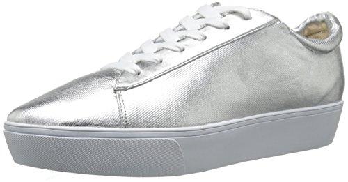 Nine West Womens Hearmeout Metallic Fashion Sneaker Silver