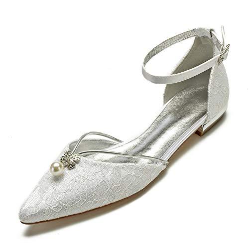 Marfil Ivory Hebilla 43 L yc Moda Zapatos 36 Tamaño Mujer Mediados De Plataforma Cerrado Boda Puntada 1Z1Oqv8xA