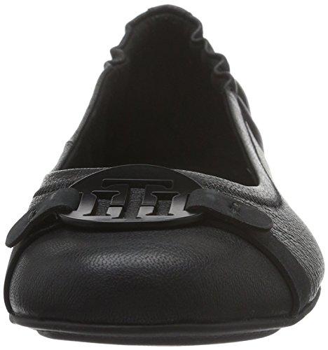 Tommy Hilfiger Damen A1285ppleton 1a Geschlossene Ballerinas Schwarz (BLACK 990)