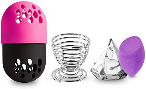 4-EN-1 Beauty Sponge Blender Sets Estuches de maquillaje Estuche de viaje Blender Defender Estuche protector con 2pcs Foundation Blending Sponge: Amazon.es: Belleza