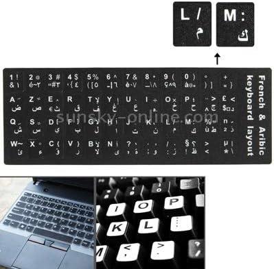 Gaming French /& Arabic Learning Keyboard Layout Sticker for Laptop//Desktop Computer Keyboard